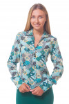 Блузка в бирюзовые платочки Деловая женская одежда