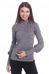 Гольф серый меланжевый Деловая женская одежда
