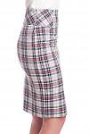 Купить юбку белую в серую клетку Деловая женская одежда