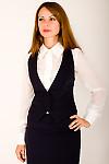 Фото Жилетка с узким воротником Деловая женская одежда