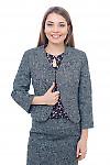 Болеро теплое из серого твида Деловая женская одежда фото