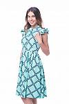 Купить платье бирюзовое в черную клетку Деловая женская одежда фото