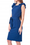 Купить платье синее с воланами Деловая женская одежда фото