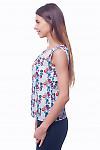 Купить топ разноцветный с разрезом Деловая женская одежда