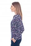 Купить тунику из ангоры в розовый узор Деловая женская одежда фото