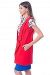 Купить жилет красный  удлиненный Деловая женская одежда фото
