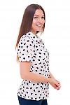 Купить блузку белую в яблоки Деловая женская одежда фото