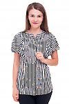 Блузка полосатая с рюшами Деловая женская одежда фото