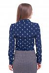 Блузка синяя Деловая женская одежда фото