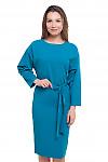 Платье цвета морской волны Деловая женская одежда фото