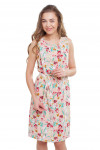 Платье розовое в розы Деловая женская одежда фото