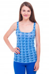 Топ синий с буквами Деловая женская одежда фото