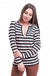 Туника полосатая с люрексом Деловая женская одежда фото