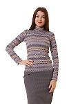 Купить юбку в лапку со складками на поясе Деловая женская одежда фото