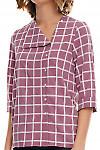 Фрагмент розовой блузки Деловая женская одежда фото