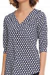 Фрагмент синей блузки Деловая женская одежда фото