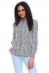 Блузка в голубую геометрию Деловая женская одежда фото