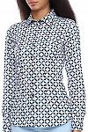 Блузка с принтом Деловая женская одежда фото