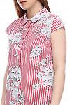 Полосатое платье Деловая женская одежда фото