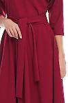 Фрагмент бордового платья Деловая женская одежда фото
