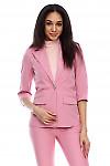 Жакет с рукавом в три четверти розовый Деловая женская одежда фото